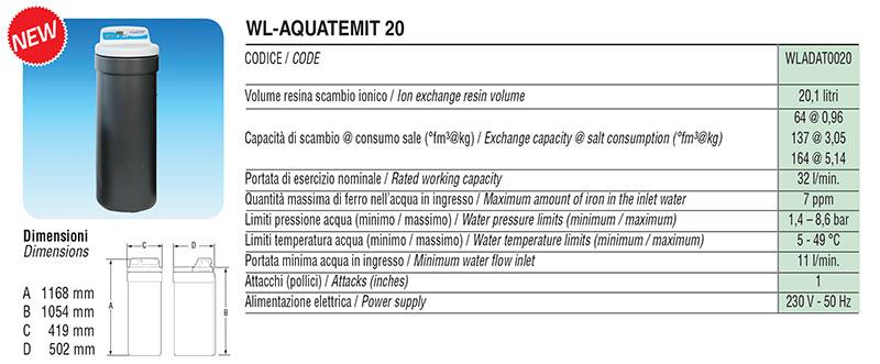 Addolcitore Facot WL-AQUATEMIT 20