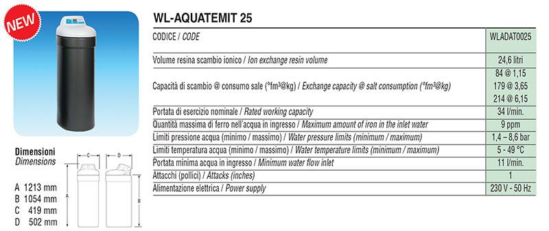 Addolcitore Facot WL-AQUATEMIT 25
